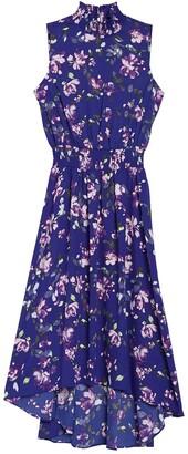 Nanette Lepore Sleeveless High/Low Midi Dress