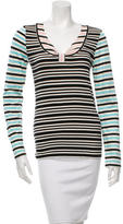 Cacharel Striped Scoop Neck T-Shirt