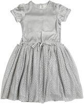 Stella McCartney Satin & Stretch Tulle Party Dress