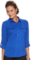 Dana Buchman Women's Nailhead Camp Shirt