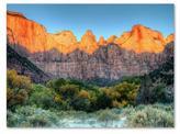 Zion Trademark Fine Art 22 in. x 32 in. Sunrise Canvas Art