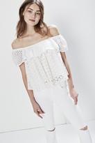 Rebecca Minkoff Celestine Top - White L Size