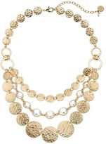Dana Buchman Hammered Disc Swag Necklace
