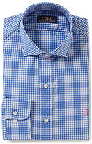 Polo Ralph Lauren Fitted Classic-Fit Spread-Collar Checked Dress Shirt