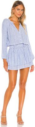 1 STATE Smocked Waist Crinkle Stripe Dress