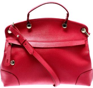 Furla Pink Leather Piper Top Handle Bag