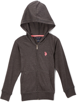 U.S. Polo Assn. Medium Heather Gray Zip-Up Hoodie - Toddler & Girls