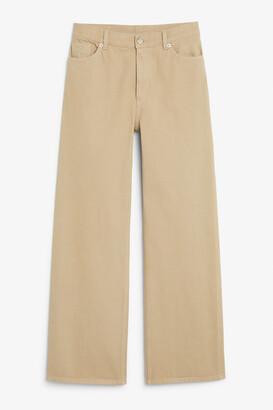Monki Yoko beige jeans