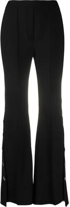 Ellery Pleat Detail Asymmetric Hem Flared Trousers