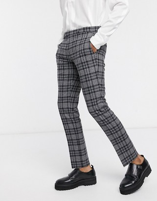 Twisted Tailor suit pants in gray check