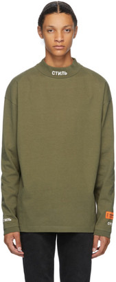 Heron Preston Khaki Style Long Sleeve T-Shirt