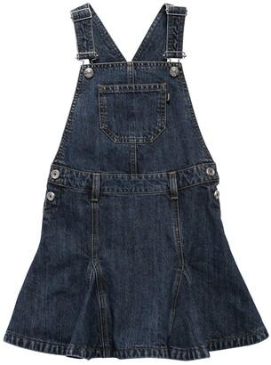 Diesel Cotton Denim Overalls Dress