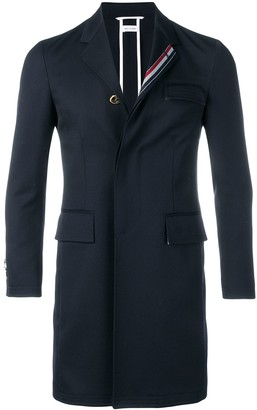 Thom Browne Rwb Stripe Unconstructed Overcoat