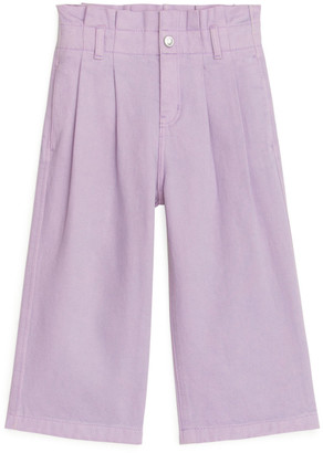 Arket Front-Pleat Twill Trousers
