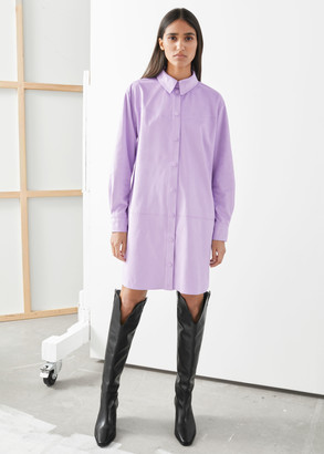 And other stories Mock Suede Shirt Dress