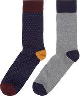 Linea 2 Pack Pin Spot Socks