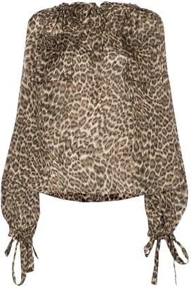 Zimmermann leopard print silk blouse