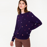 Paul Smith Women's Purple Wool Sweater With Embroidered 'Stars'