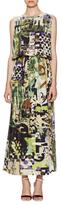 Fuzzi Graphic Print Drawstring Dress