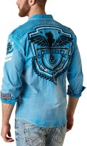 Roar Men's Cavalier Eagle Pilot Long Sleeve Button Down Shirt