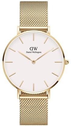 Daniel Wellington Petite 36 Evergold White Dial