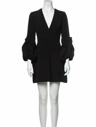 Alexis Plunge Neckline Mini Dress Black