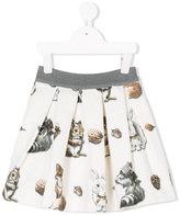 MonnaLisa woodland animals print skirt - kids - Cotton/Polyester/Viscose - 2 yrs