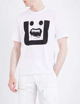 Undercover Face-print cotton-jersey T-shirt
