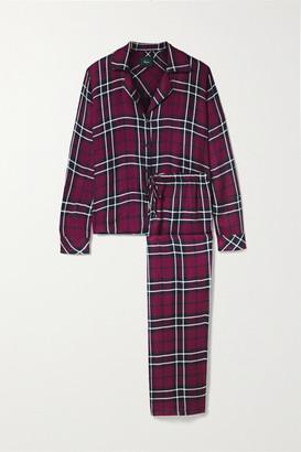 Rails Clara Checked Flannel Pajama Set - Claret