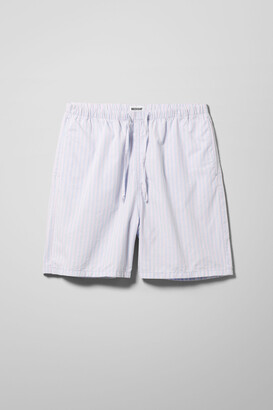 Weekday Amos Striped Shorts - Purple