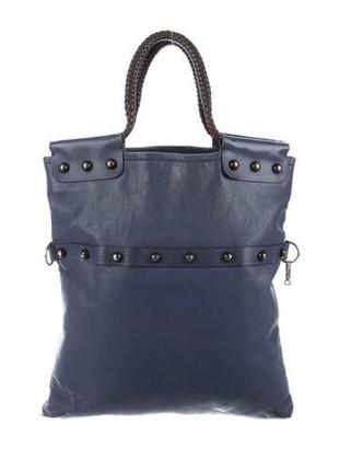 Lanvin Leather Tote Bag Blue