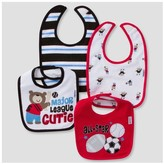 Gerber Baby Boys' 4pk Terry Bib Set Sports ;