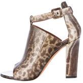 Givenchy Karung Peep-Toe Booties
