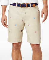 "Tommy Hilfiger Men's 9"" Khaki Longboard Cotton Shorts"
