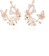 Anabela Chan M'O Exclusive: White Butterfly Garland Earrings