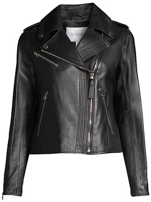 Derek Lam Asymmetrical Leather Moto Jacket