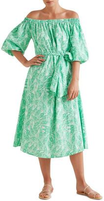 Seed Heritage Paisley Off Shoulder Dress
