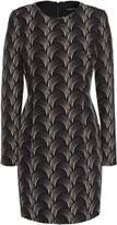 Black Halo Lively Printed Cady Mini Dress