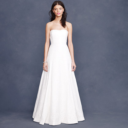 J.Crew Laura lace gown