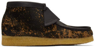Clarks Black and Brown Pony Hair Tortoiseshell Wallabee Boots