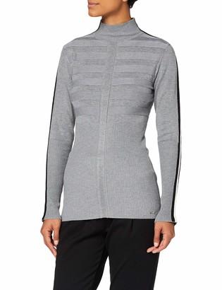 Morgan Women's Pull Manche Longue Col Roule Bande Couleur Mentol Sweater