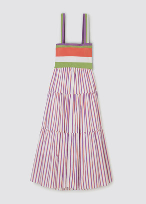 Tanya Taylor Claudia Striped Maxi Dress