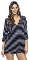 Nautica Women's Classic Stripe Long Sleeve Tunic Cover Up