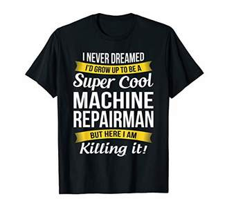 Mens Super Cool Machine Repairman Tshirt Funny Gift T-Shirt