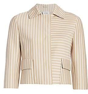 Akris Punto Women's Back Pleat Striped Short Jacket