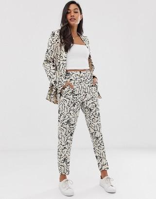 Ichi lace print suit trousers