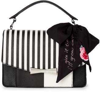 Betsey Johnson Scarf-Accented Satchel