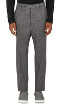 Lanvin Men's Checked Wool Trousers