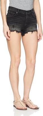 Lucky Brand Women's HIGH Rise Shortie Jean Short in HEROME FRAY 32