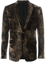 Etro printed velvet blazer - men - Silk/Acetate/Viscose - 52